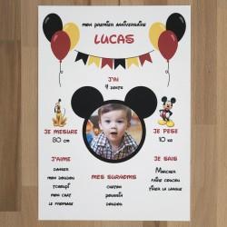 Affiche personnalisée Mickey®