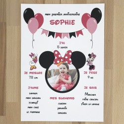 Affiche personnalisée Minnie®
