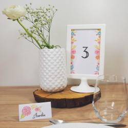 Numéro de table Aquarelle