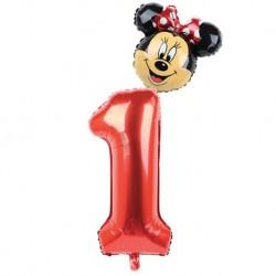 Ballon chiffre Minnie®