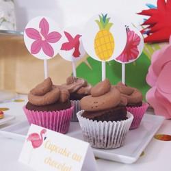 Cupcake topper Tropical...