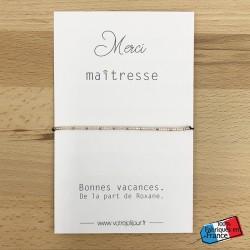 """Bracelet """"Merci maîtresse""""..."""