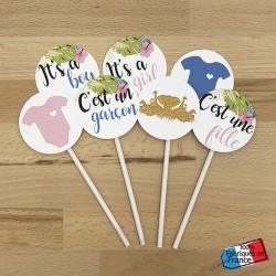 Cupcake topper Jungle (lot...