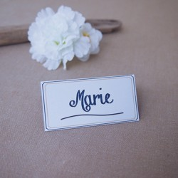 Marque-place Navy Gold