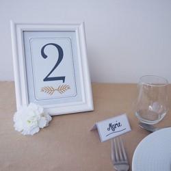 Numéro de table Navy Gold