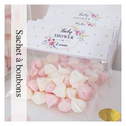 Sachet à bonbons Flower Gold