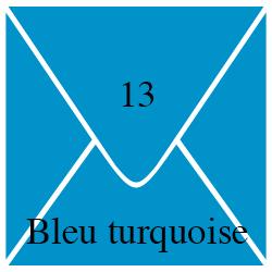 Enveloppe Bleu Turquoise