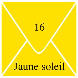 Enveloppe Jaune Soleil