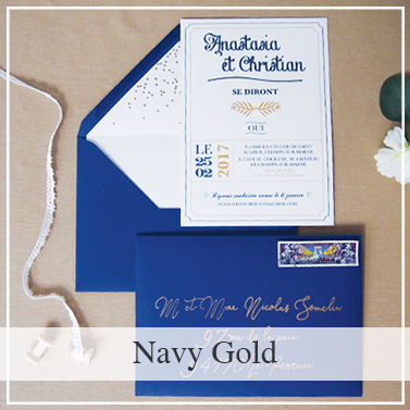 Collection mariage Navy Gold
